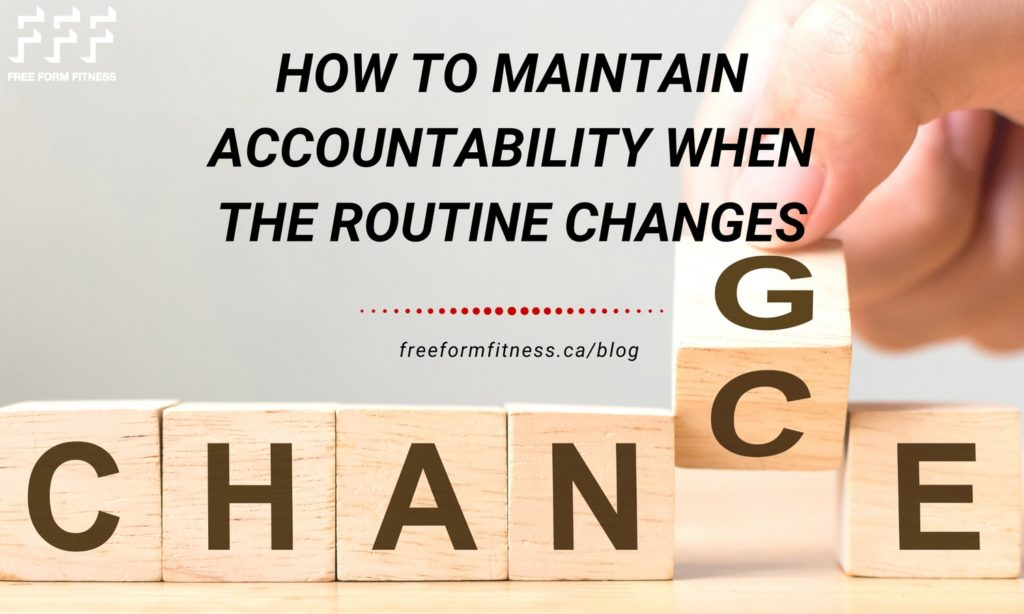 Maintain accountability when the routine changes. Square blocks that read